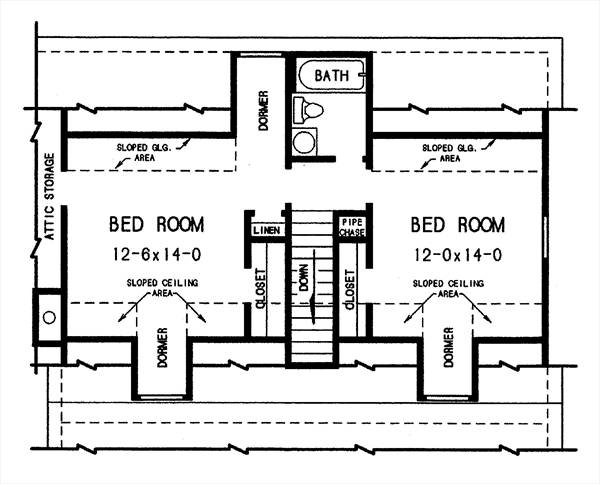 2nd floor plan image of Featured House Plan: BHG - 2794