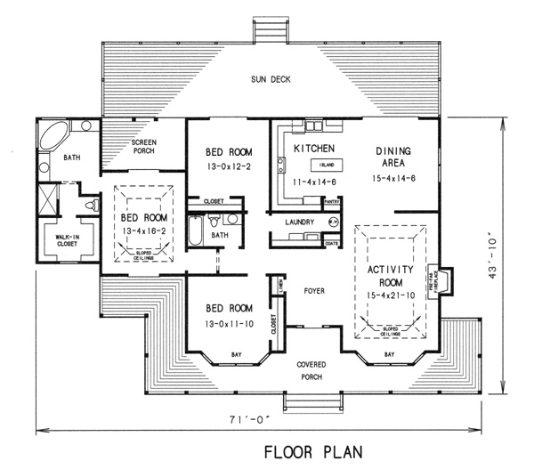 floor plan image of Featured House Plan: BHG - 7752