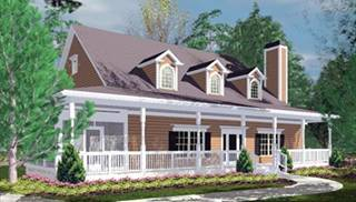 image of Traditional 2 Story Covered Front Porches House Plan