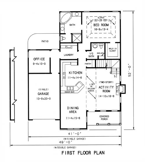 1st floor plan image of Featured House Plan: BHG - 7751
