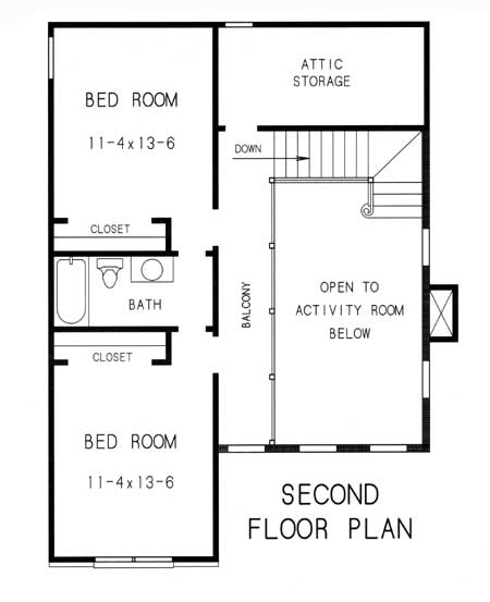 2nd floor plan image of Featured House Plan: BHG - 7751
