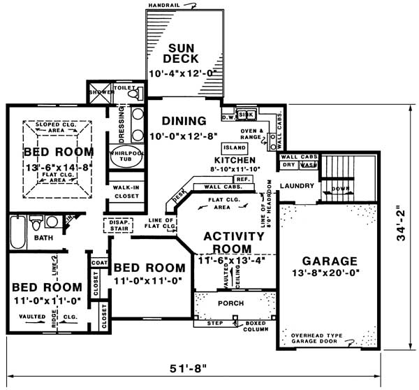 floor plan image of Featured House Plan: BHG - 1515