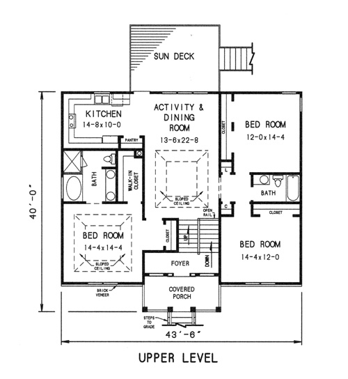 upper level plan image of Featured House Plan: BHG - 7735