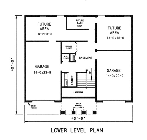 lower level plan image of Featured House Plan: BHG - 7735