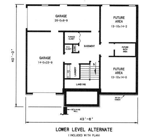 alternate lower level plan image of Featured House Plan: BHG - 7735