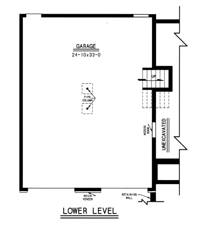 lower level plan image of Featured House Plan: BHG - 7737
