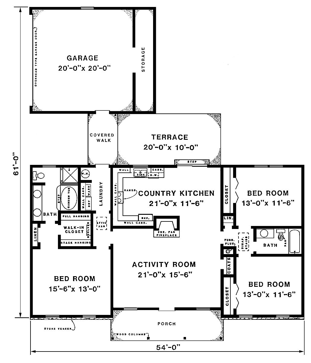 floor plan image of Featured House Plan: BHG - 3293