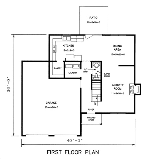 1st floor plan image of Featured House Plan: BHG - 7739