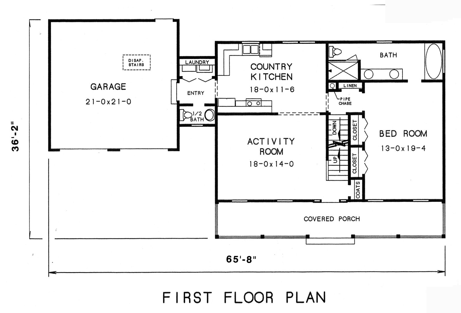 1st floor plan image of Featured House Plan: BHG - 3569