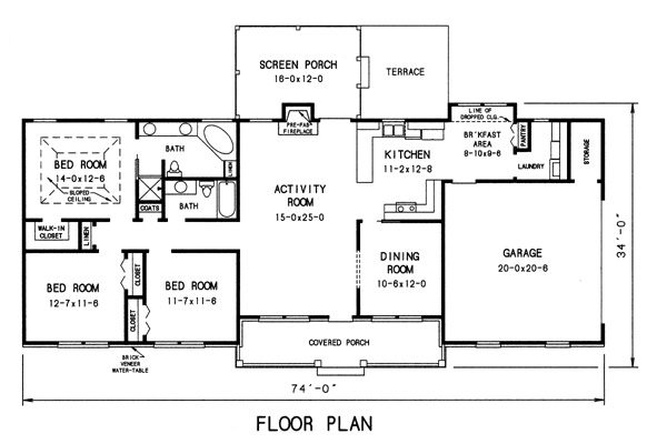 floor plan image of Featured House Plan: BHG - 7742