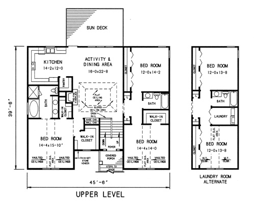 upper level plan image of Featured House Plan: BHG - 7743