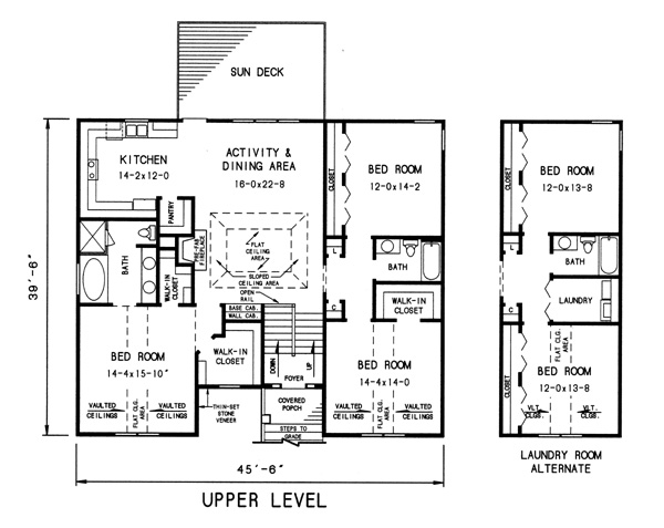 upper level plan image of Featured House Plan: BHG - 7744