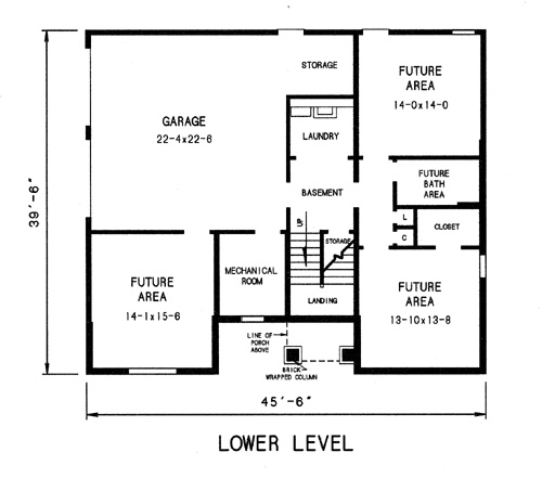lower level plan image of Featured House Plan: BHG - 7744