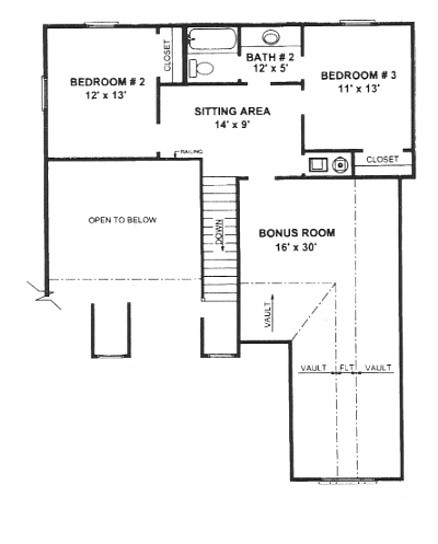 Second Floor Plan image of Featured House Plan: BHG - 5924