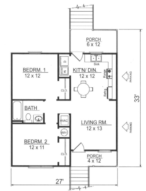 First Floor Plan image of Featured House Plan: BHG - 7796