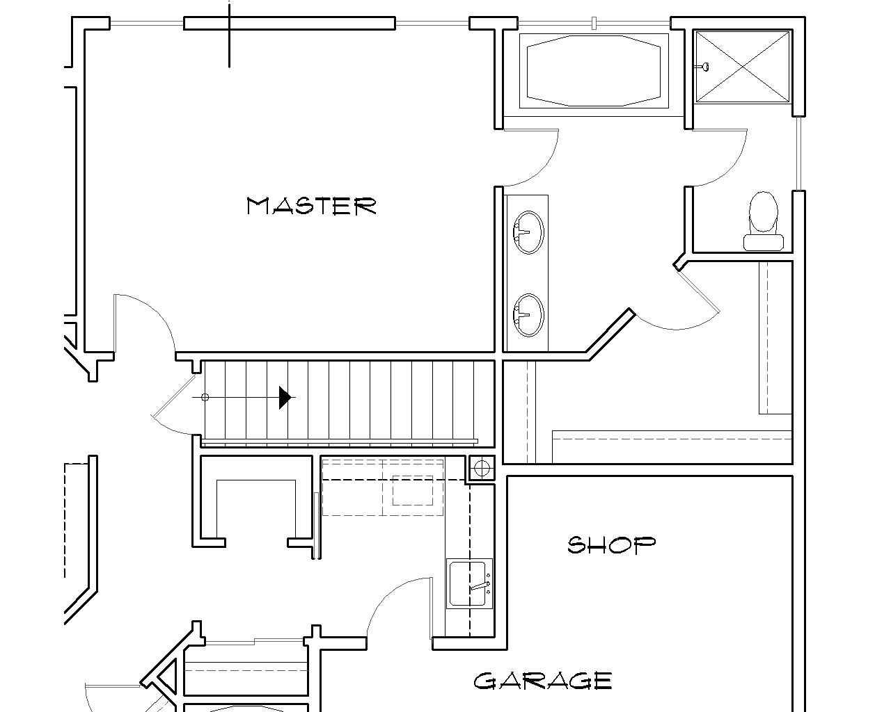 Basement Stair Location image of Featured House Plan: BHG - 4655