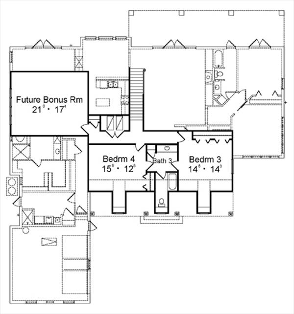 Second Floor Plan image of Featured House Plan: BHG - 4147