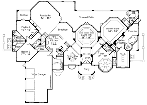 First Floor Plan image of Featured House Plan: BHG - 4153