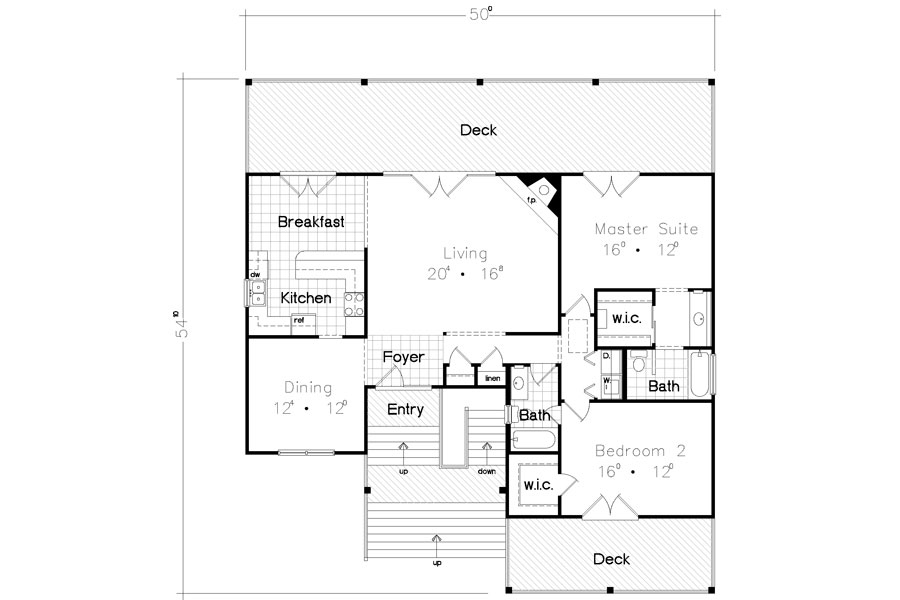 Floor Plan image of Featured House Plan: BHG - 3928
