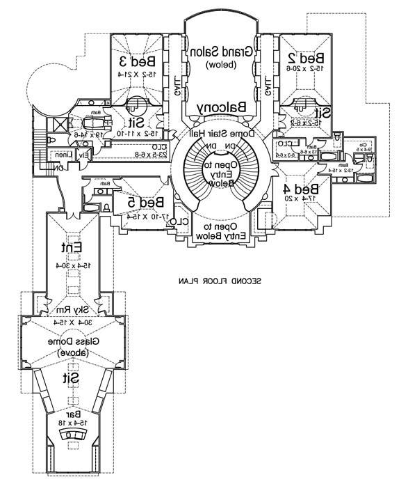 2nd Floor Plan image of Featured House Plan: BHG - 6047