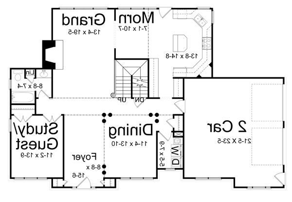 1st Floor Plan image of Featured House Plan: BHG - 7970