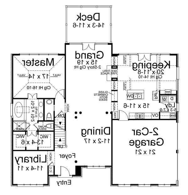 1st Floor Plan image of Featured House Plan: BHG - 5971