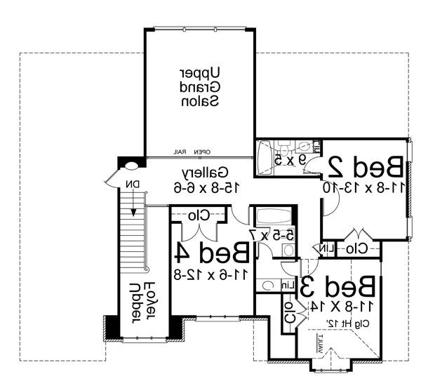 2nd Floor Plan image of Featured House Plan: BHG - 5971