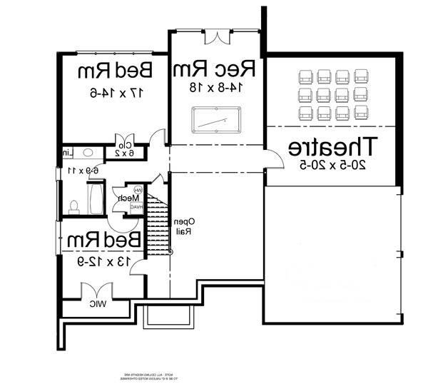Basement image of Featured House Plan: BHG - 5971