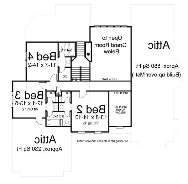 2nd Floor Plan image of Featured House Plan: BHG - 7219