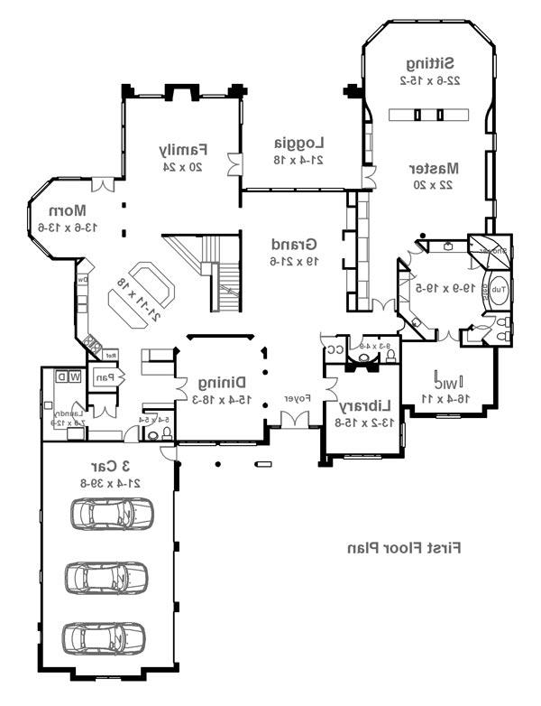 1st Floor Plan image of Featured House Plan: BHG - 6041