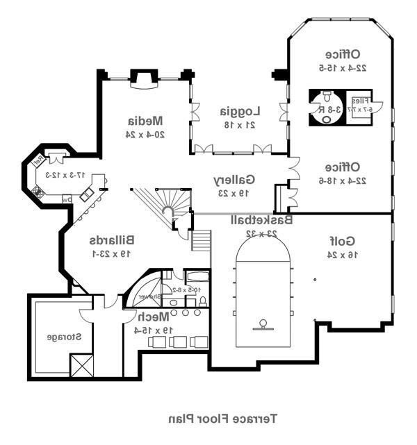 Terrace image of Featured House Plan: BHG - 6041