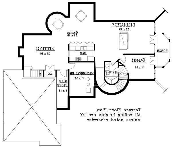 Terrace Floor Plan image of Featured House Plan: BHG - 8216