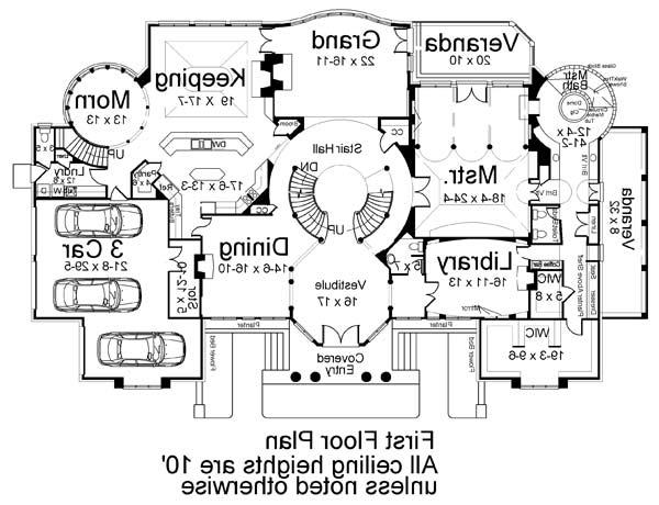 1st Floor Plan image of Featured House Plan: BHG - 6034