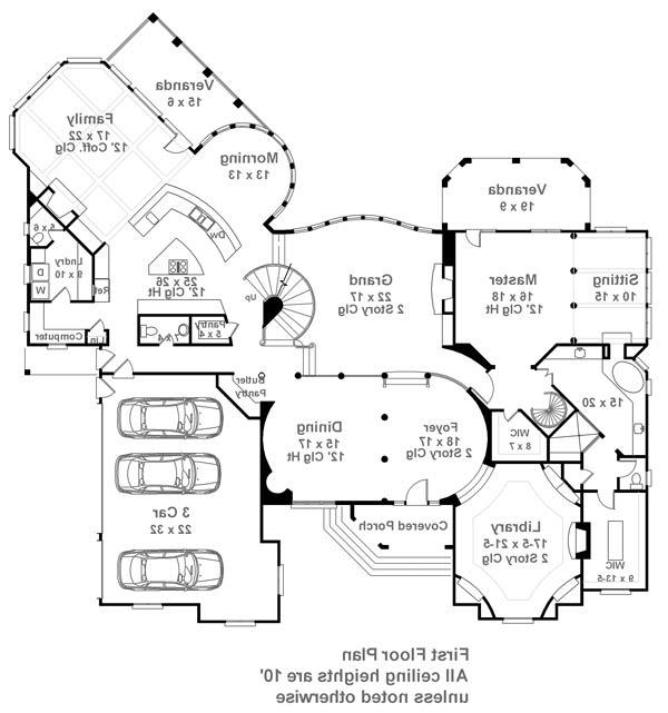 1st Floor Plan image of Featured House Plan: BHG - 6014