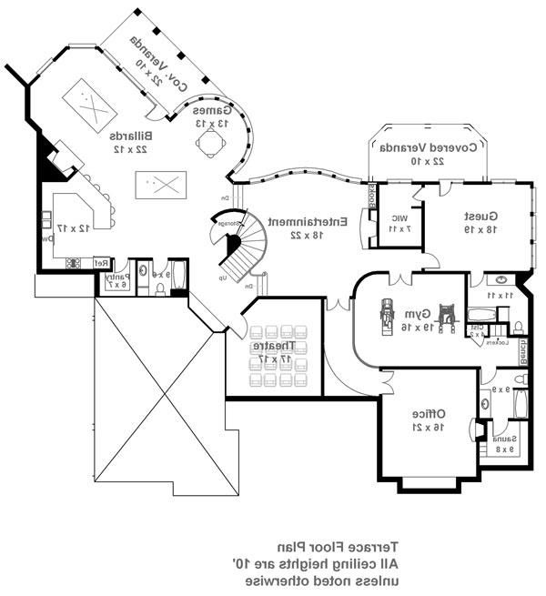 Terrace Floor Plan image of Featured House Plan: BHG - 6014