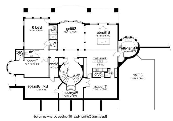 Basement Floor Plan image of Featured House Plan: BHG - 8079