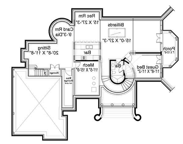 Basement Floor Plan image of Featured House Plan: BHG - 5997
