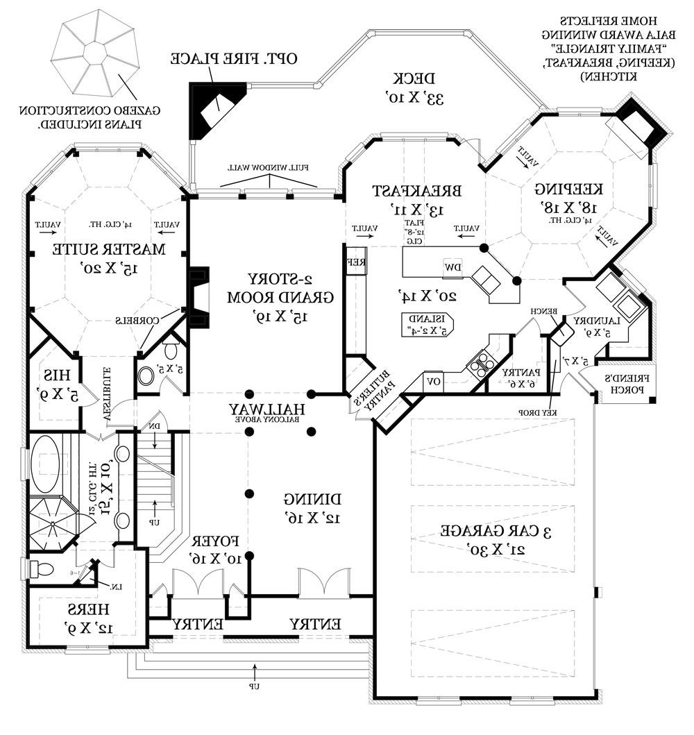 First Floor Plan image of Featured House Plan: BHG - 7930