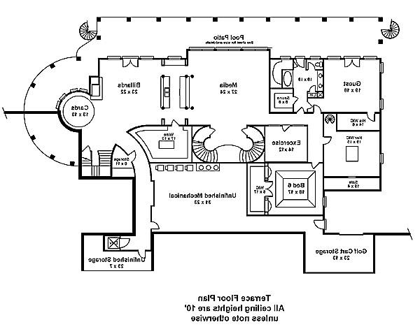 Basement Floor Plan image of Featured House Plan: BHG - 6046