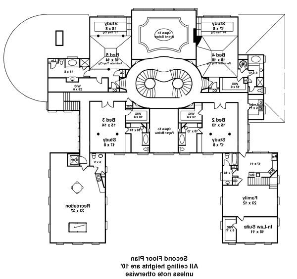 Second Floor Plan image of Featured House Plan: BHG - 6046