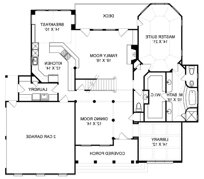 First Floor Plan image of Featured House Plan: BHG - 7974