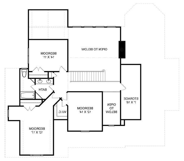 Second Floor Plan image of Featured House Plan: BHG - 7974