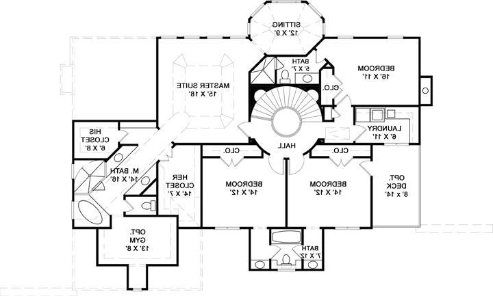 Second Floor Plan image of Featured House Plan: BHG - 7975