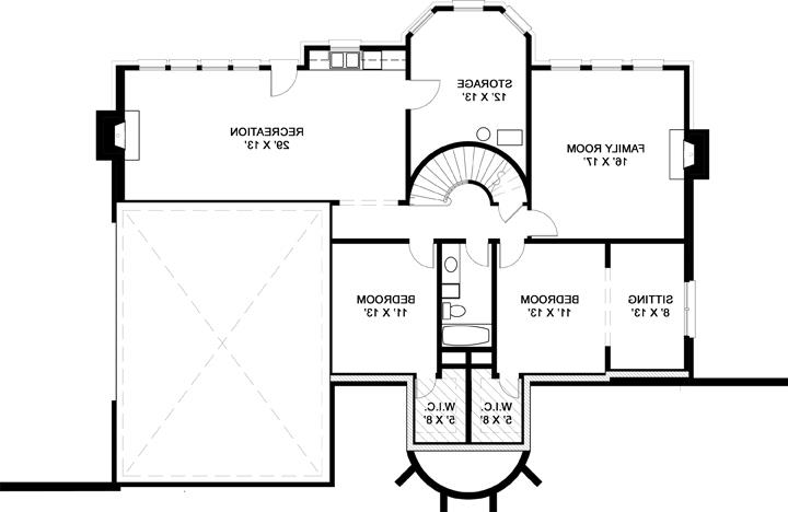 Basement Floor Plan image of Featured House Plan: BHG - 7975
