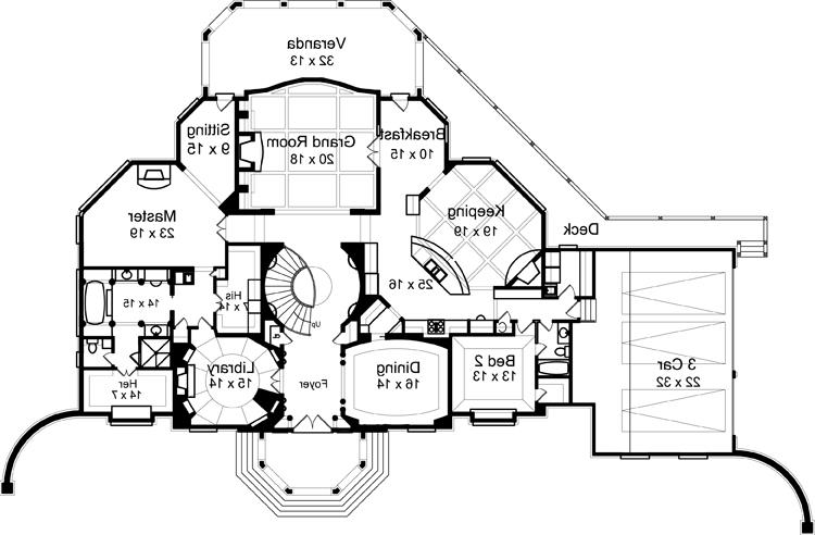 First Floor Plan image of Featured House Plan: BHG - 7693