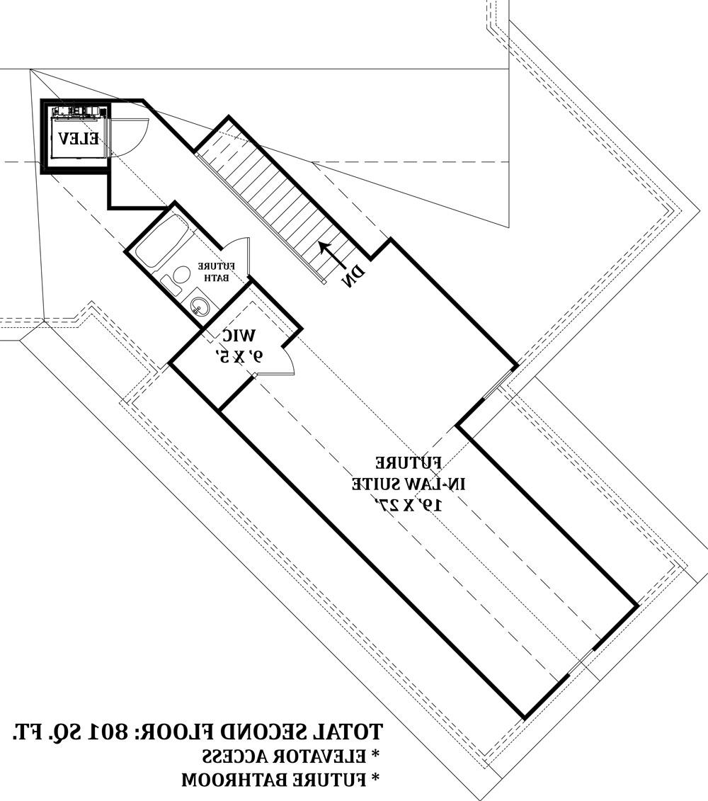 Bonus Second FLoor image of Featured House Plan: BHG - 4673