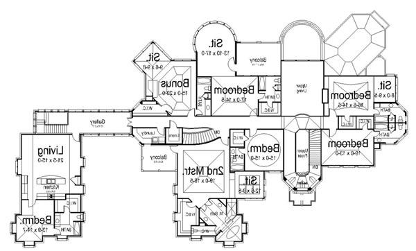 2nd Floor Plan image of Featured House Plan: BHG - 6040
