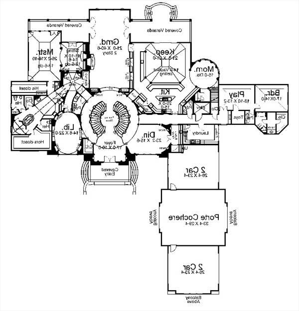 1st Floor Plan image of Featured House Plan: BHG - 8078