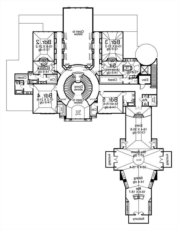 2nd Floor Plan image of Featured House Plan: BHG - 8078