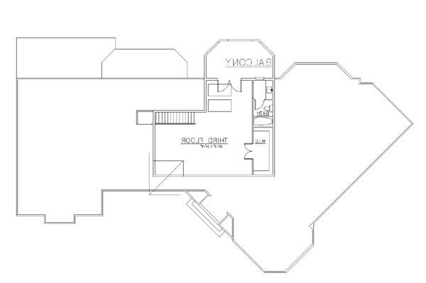 3rd Floor image of Featured House Plan: BHG - 6154